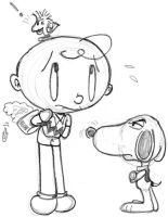 charlie brown and snoopy by thebigJ94