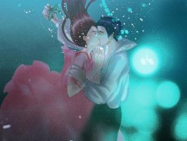 kiss under the sea. by pineapplefield4ever
