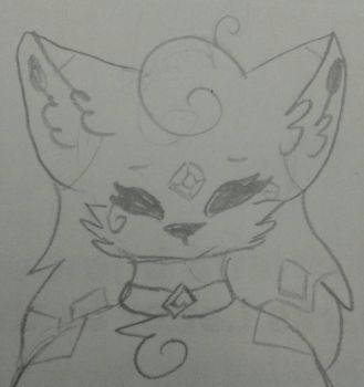 Doodle of me by MidnightZWarrior2b2