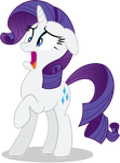 Rarity - In Shock - Horrified by TomFraggle