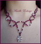 Wine lace necklace by Mavelle-Ealenyr