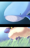 Wailord and Mareep