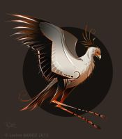 Secretary bird Style by Dragibuz