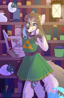Plants and Books - Commission by sbneko