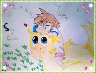 Young Sora and the Chocobo lalalala by LeanneArts