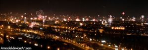 New Year Celebrations - Panorama by amrodel