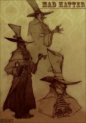 mad hatter sketch page by loish