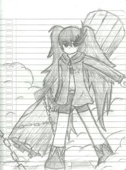 Black Rock Shooter - Sketch by marionetomato