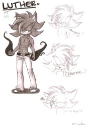 Luther the sexy hedgehog :D by kiiyup0p
