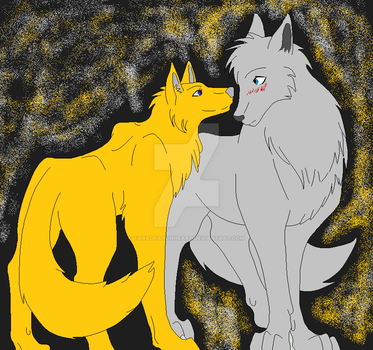 Gold shadow And Silver ice by TaraDragonheart
