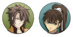 Souji and Heisuke Buttons by BrittanysDesigns