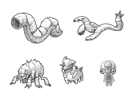 June T6 - Worm, Flea and other Thing creatures by GTK666
