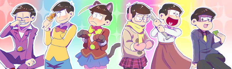 Borrowing clothes [OSOMATSU SAN] by Ful-Fisk