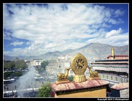View over Lhasa by Hiddenplanet