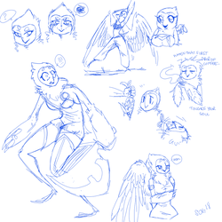 eloise sketch page by SparklyOwlGuts