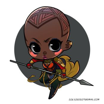 Black Panther Chibis -- Okoye by adipatijulian