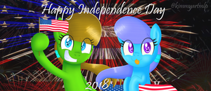 Happy Independence Day 2018 (4.0) by KimmyArtMLP