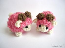 Limited Edition Rose Pink Sheep by AnyaZoe