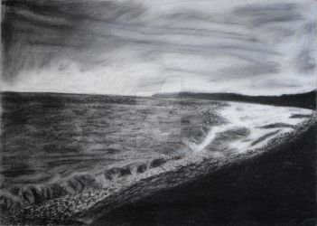 Chalk and Charcoal Sea by rlcreatif