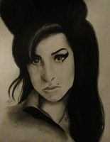 Commission #5 Amy Winehouse by Magicpixydust