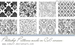 Floral Black and White Photoshop Patterns. by Coby17
