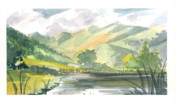 Landscape Painting Part 1: Light and Shadow by Tomsleeps