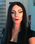 Addams family- Morticia makeup   (first try) by antaale