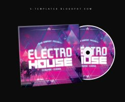 Electro House CD Cover FREE PSD Template by KlarensM