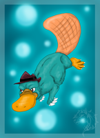 Perry the platypus by FlameEtain
