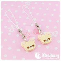 Cookie friends Cell Phone Straps (BFF SET) by CuteMoonbunny