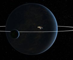 Rising above the plane of the rings by Robby-Robert