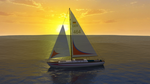 Daz mausel sailboat calm sea sunset 1 by anthsco