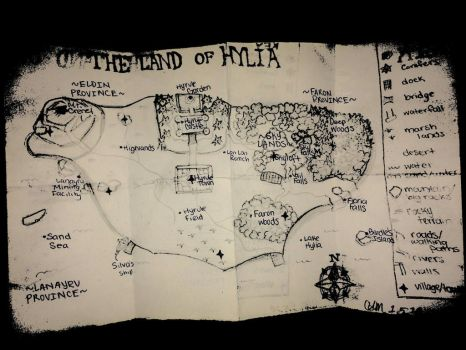 Map of the Land of Hylia by triforceGAMR
