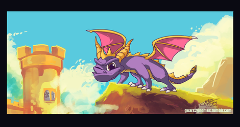 SGDQ2017-Spyro by knight-mj
