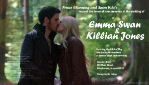 Captain Swan Wedding Invitation by CaseyJewels