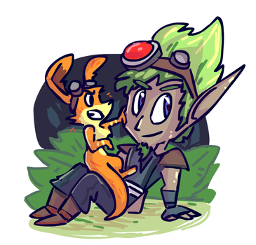 Jak and Dax by sky665