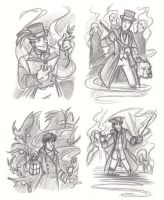 Sketch dump - Supernatural Things by Sleyf