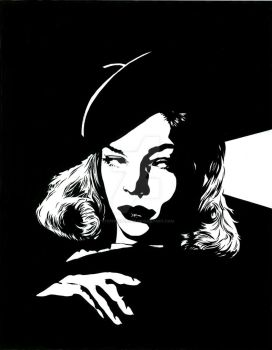 Lauren Bacall 2 by stephenburger