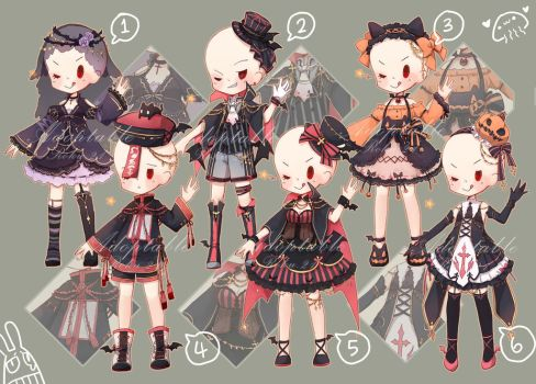 [closed] Adoptable: Outfits XII by ZylenXia