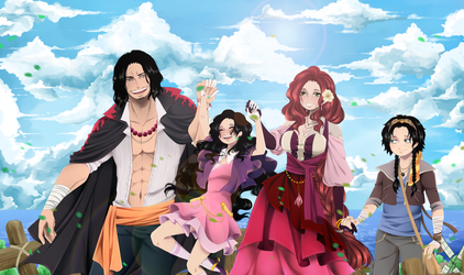 One Piece. Portgas D Family. by HatoChan19