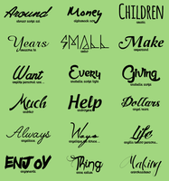 Font Pack #12 by shiny-a
