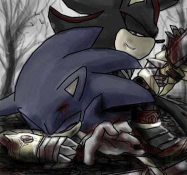 sonic trapped with Lancelot by kalisami
