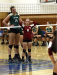 Tall Volleyball player at Net by lowerrider