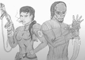 Dax and Worf by grimjack-13