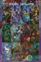 2017 Zodiac Dragons Collection by The-SixthLeafClover