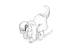 Dedan-pet (sketch) by KateMoxundertaker