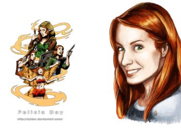 Felicia Day Fan Art (Color) by Syldur