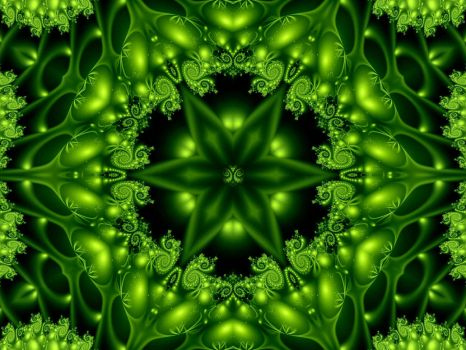 Green Forest Lights by Thelma1