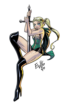 Elf Maiden _ DRS Commission For TamTam by EryckWebbGraphics