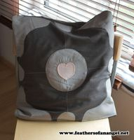 Companion Cube Pillow 1 by SongThread